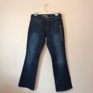 Express Eva Curvy mid-rise bootcut Fit Short Jeans